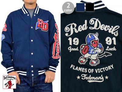 FLAMES OF VICTORY RED DEVILスウェットスタジャン◆TEDMAN/テッドマン
