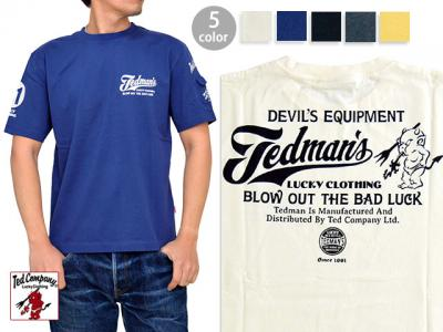 BLOW OUT THE BAD LUCK半袖Tシャツ◆TEDMAN/テッドマン