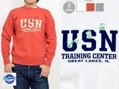 BUZZ×PEANUTSクルースウェット「U.S.N TRAINING CENTER」◆BUZZ RICKSON'S