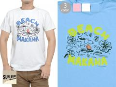 SUN SURF×PEANUTS半袖Tシャツ「BEACH MAKAHA」◆SUN SURF