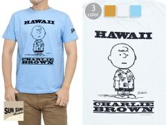 SUN SURF×PEANUTS半袖Tシャツ「CHARLIE BROWN」◆SUN SURF