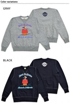 BUZZ×PEANUTSクルースウェット「NAVAL AIR STATION」◆BUZZ RICKSON'S