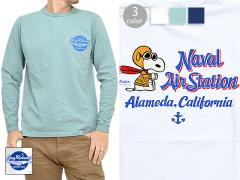 BUZZ×PEANUTS長袖Tシャツ「NAVAL AIR STATION」◆BUZZ RICKSON'S