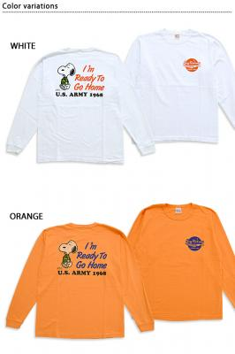 BUZZ×PEANUTS長袖Tシャツ「I'm Ready To Go Home」◆BUZZ RICKSON'S