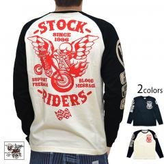 STOCKRIDERS長袖Tシャツ◆BLOOD MESSAGE
