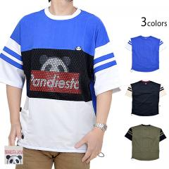 メッシュ切替BIGTee◆PANDIESTA JAPAN