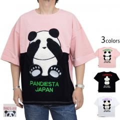 ファーパンダ切替BIGTee◆PANDIESTA JAPAN